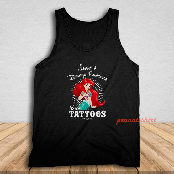 Ariel A Disney Princess With Tattoos Tank Top