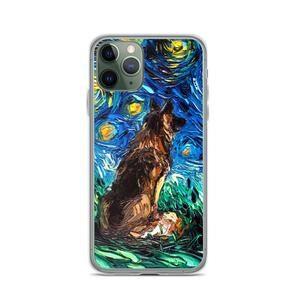 German Shepherd Night iPhone Case