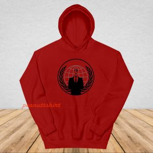 Anonymous Logo Hoodie For Unisex