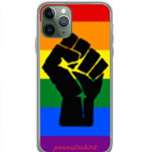 BLM Pride Rainbow Black Lives Matter iPhone Case