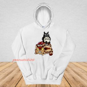 Catbus and Totoro A Fun Ride Hoodie