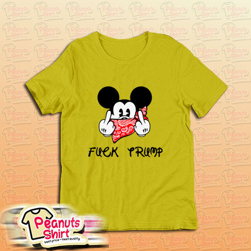 Fuck Trump Mickey Mouse Middle Finger T-Shirt For Unisex