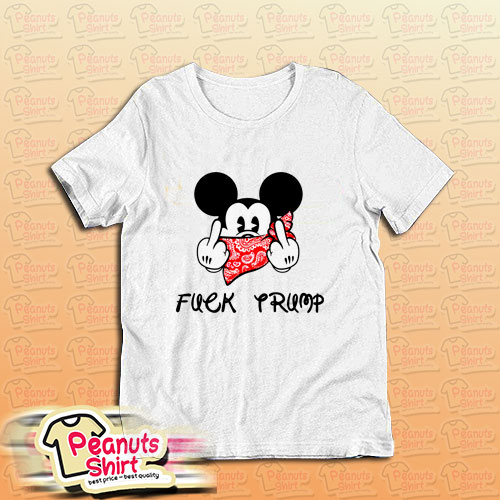 Fuck Trump Mickey Mouse Middle Finger T-Shirt