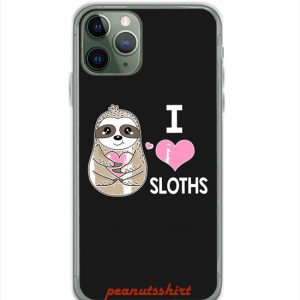 I Love Sloths Cute Sloth iPhone Case