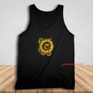 Sloth Sunflower Tank Top