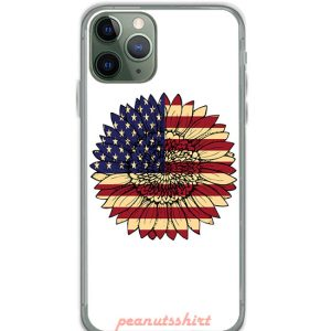 Sunflower American Flag Independence Day iPhone Case