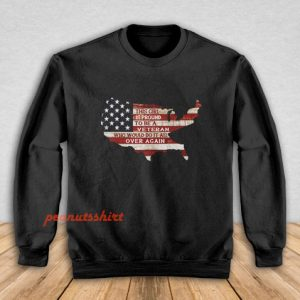 This Girl Is Pround To Be A Veteran Sweatshirt