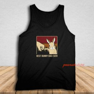 Vintage Best Bunny Dad Ever Fathers Day Gift Tank Top