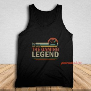 Vintage Dad The Man The Myth The Gaming Tank Top