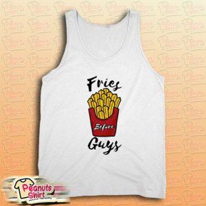 Fries Before Guys White Tank Top