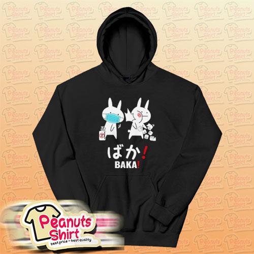 Japanese Baka Rabbit Hoodie