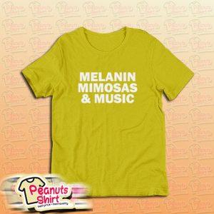 Melanin Mimosas and Music Yellow T-Shirt