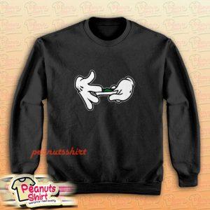Mickey Mouse Hands Rolling Blunt Swag Sweatshirt