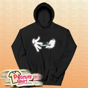 Mickey Mouse Hands Rolling Blunt Swag Hoodie