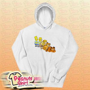 Bart Simpson And Garfield Hoodie
