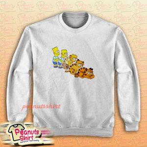 Bart Simpson And Garfield Sweatshirt