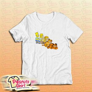 Bart Simpson And Garfield T-Shirt