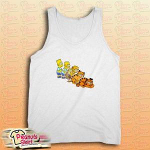 Bart Simpson And Garfield Tank Top