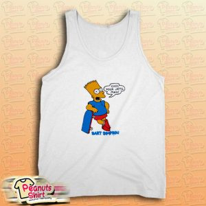 Cool Your Jets Man Bart Simpson Tank Top