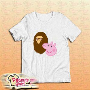 A Bathing Ape Bape Head X Peppa Pig Parody T-Shirt
