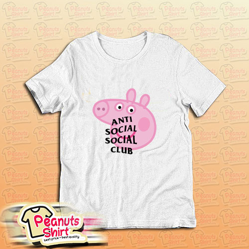 Anti Social Social Club Assc Peppa Pig Parody T-Shirt