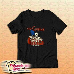 The Simpsons Halloween Skeleton Family T Shirt