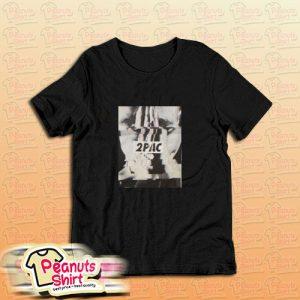 2pac Glitch Photo T-Shirt