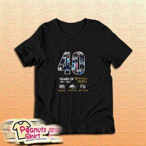 40 Years Of 1980 2020 Depeche Mode Signature T-Shirt