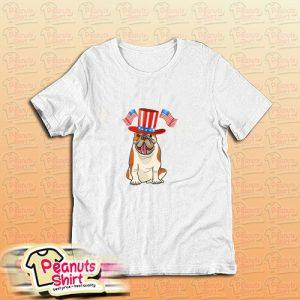 4th Of July Dog Flag Merica T-Shirt