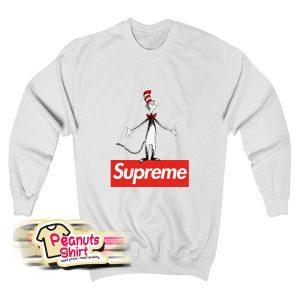 The Cat In The Hat Supreme Red Box Sweatshirt